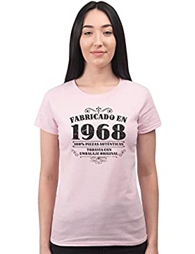 BANG TIDY CLOTHING Camiseta de Mujer Para Regalo DE 50 Cumpleaños Manufactured 1968