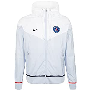 2015-2016 PSG Nike Authentic Windrunner Jacket (White)