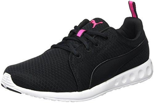 Puma Carson Mesh Wn's, Scarpe Da Atletica Leggera Donna, Nero (BLACK/PINK 03), 38 EU