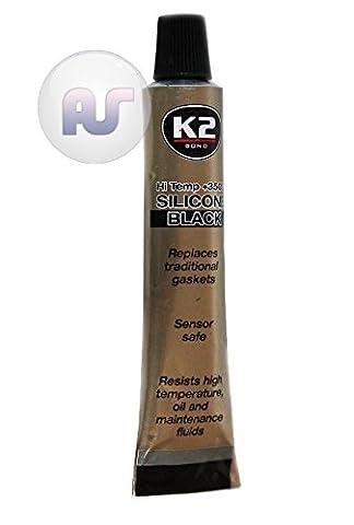 K2 BOND High Temperature 350° C Heat Resistant Silicone Sealant BLACK Adhesive 21g