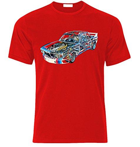 BMW 3,0CSL 1975 DTM Fan BEST fan TUNING SPEED RACE T-shirt size S-XXL Weihnachtsgeschenke Xmas Rot
