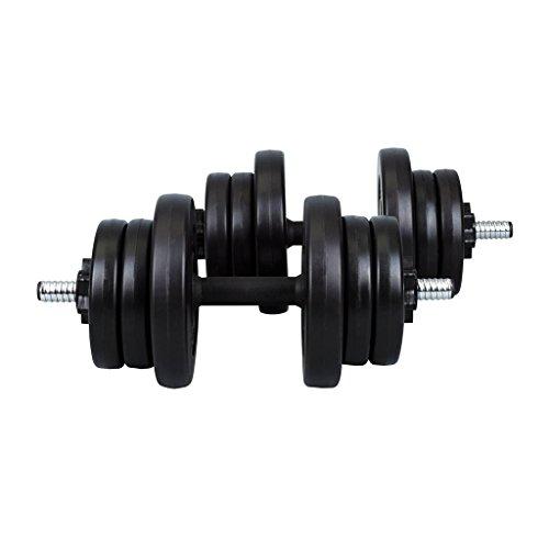 Hop-Sport Kunststoff Kurzhantelset 2x10 kg, 023573