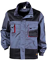 Stenso Ultimate Arbeitsjacke mit multifunktionellen Taschen Grau//Schwarz