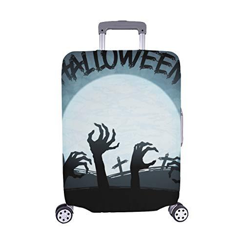 Eps 10 Halloween Zombies mond Muster Spandex Staubschutz Trolley Protector case reisegepäck Schutz Koffer Abdeckung 28,5 x 20,5 ()
