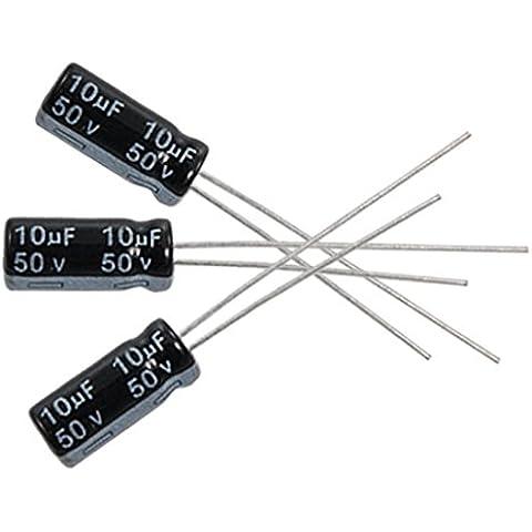 Condensadores electroliticos - SODIAL(R)10 x 10uF 50V 105C condensador electrolitico radial 5x11mm
