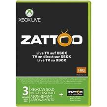 Xbox Live - Gold-Mitgliedschaft 3 Monate inkl. 1 Monat Zattoo HiQ