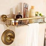 TougMoo Badezimmer Zubehör Messing Golden Finish mit gehärtetem Glas,Doppel Glasregal Bad Regal,Weiß