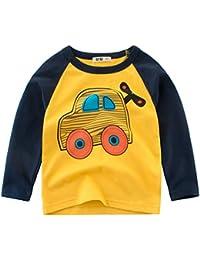 Oyoden Camisetas Manga Larga Niños Dibujos Animados Tops Algodón Blusa ... a379e3d6ff6