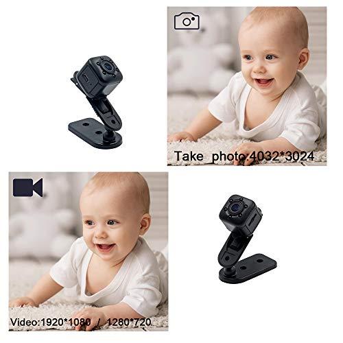 1080P Mini Cam Surveillance Kamera LXMIMI Portable HD Nanny Web Cam mit Nachtsicht und Bewegungserkennung für Home / Office Indoor / Outdoor Security Kamera - 2
