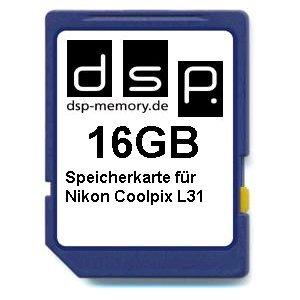 DSP Memory Z-4051557437098 16GB Speicherkarte für Nikon Coolpix L31