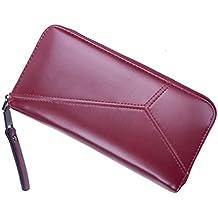 ff58e160b5 Asnlove Donna Portafogli di PU Pelle, Smartphone Wallet Classico Borsa  Lungo Elegante Portamonete Carta di