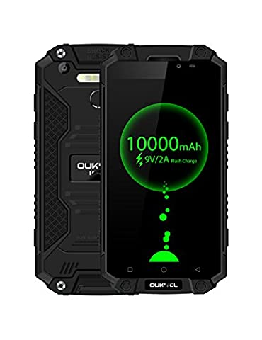 Outdoor Handy, Oukitel K10000 Max Android 7.0 IP68 Wasserdichte Stoßfest Staubdicht Robuste Smartphone Große Batterie 10000mAh Akku 5.5 Zoll FHD 1920*1080pixel 3GB RAM 32GB ROM 16MP/8MP (Unlocked Gsm-bluetooth-kamera-telefon)