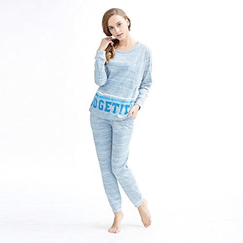 pigiama di cotone ladies/ girocollo stampato pigiama set/Semplici famiglie Abbigliamento Tute A