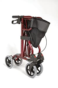 NRS Healthcare Magic Folding Four-Wheeled Rollator and Bag