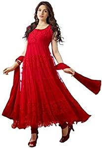 Salwar Kameez ( SM_22_Red ) - Red Wash Care : The Dry clean is recommended