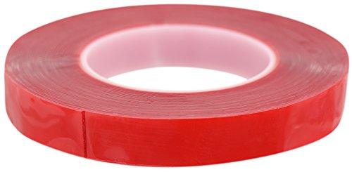 FiveSeasonStuff® Polyvalent Haute Résistance Acrylique Ruban adhésif double face pour réparation de téléphones mobiles, des véhicules automobiles, maison et jardin, industriel, bureau, atelier, garage. applications de surface pour le bois, le verre, le métal, les plastiques, les composites, foamex, les surfaces peintes (tailles disponibles de 3mm à 50mm et épaisseur 0.2mm ou 1mm) chaque bande est de 10mètres de long (25mm 1mm)