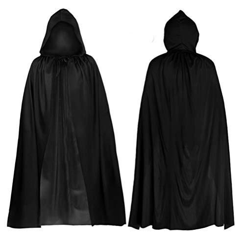 Jafar Magier Kostüm - Enfei Männer Kapuzenumhang langes Cape für