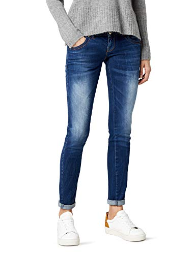 LTB Jeans Damen MOLLY Slim Jeans, Blau (Heal Wash 50356), Gr. W27/L34 - Low-rise-slim-fit-jeans