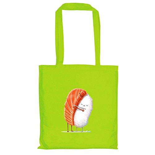 Texlab–Sushi Love–sacchetto di stoffa Verde chiaro