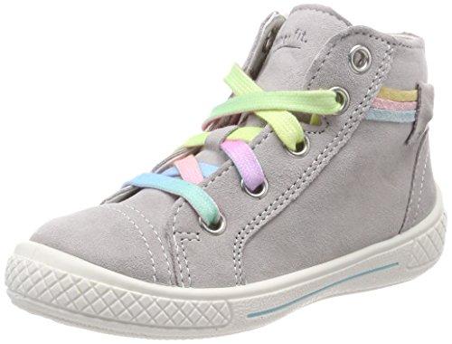 Superfit Mädchen Tensy Hohe Sneaker, Grau (Smoke Kombi), 33 EU