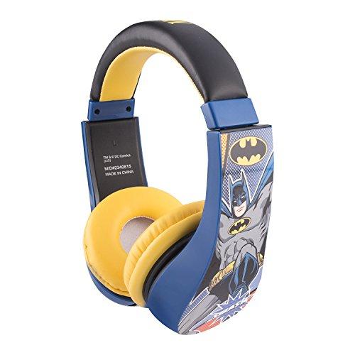 opfhörer mit eingebauter Lautstärkenregulierung schwarz/gelb (Batman Kinder)