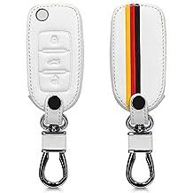 kwmobile Funda para Llave de 3 Botones para Coche VW Skoda Seat - Cubierta de [
