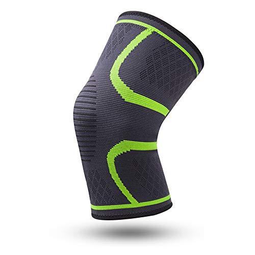 WXQQ SportKompression Knie Sleeve für Damen & Herren - Elastische Kniebandage - Atmungsaktive Kniestütze bei Meniskus-Beschwerden, Knie Arthrose, Sehnenentzündung & BänderrissGreen