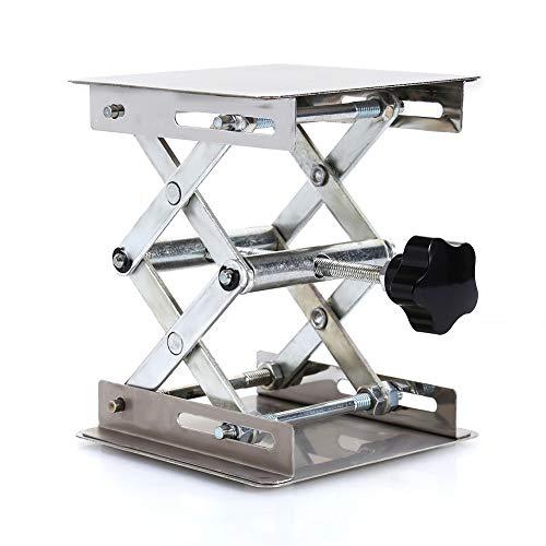 GRASSAIR Einstellbare Edelstahl-Mini-Labor Stand-Lifting Platform Desk Laboratory Tool 100 * 100 * 160mm escritorio de oficina scrivania (De Oficina Escritorios)