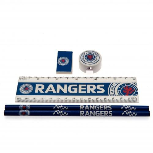 Rangers F.C. Setcore Core stationery Schreibwaren-set, mit 2 Bleistiften, Lineal, 1 x 1 Stück 1 x...