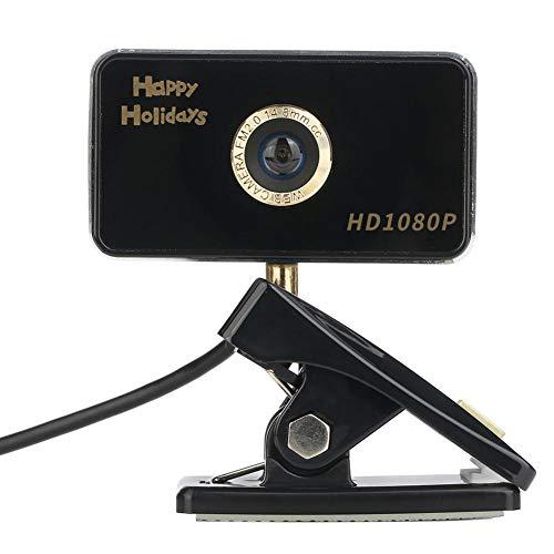 USB Webcam para gato, USB Webcam ordenador HD 720P/1080P Cámara pas besoins Piloto Industrial pantalla de vídeo llamada grabación Desktop Portable Webcam regalo año nuevo Noel para amor/familia