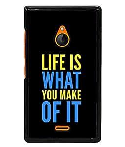 Fuson Designer Back Case Cover for Nokia XL (Feelings Life Truth Black Lines)