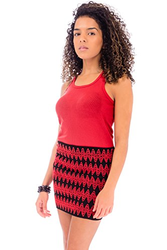 Ça Va Bien Fashion -  Gonna  - Donna Black/Red Combo
