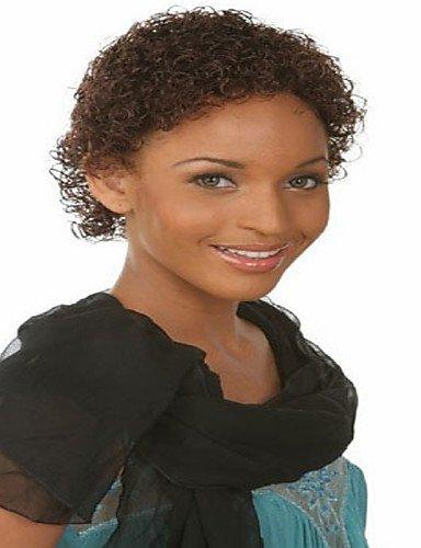Mode Perücken WIGSTYLE europäischen und amerikanischen Frauen Mode Hüte kurzen lockigen Haar braune Farbe