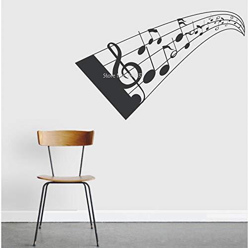 woyaofal Note di Musica 3D Adesivo da Parete Creativo Decorazioni per la casa Adesivi da Parete in Vinile Autoadesivo per Soggiorno Colori Disponibili Z 61x37cm
