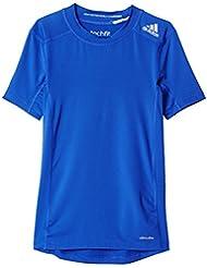adidas Yb Tf Base Tee Camiseta, Niños, Azul (Azufue), 176