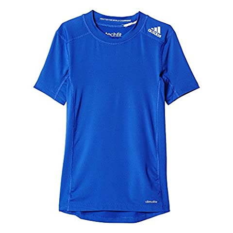 adidas Jungen T-Shirt Techfit Base, Boblue, 152,