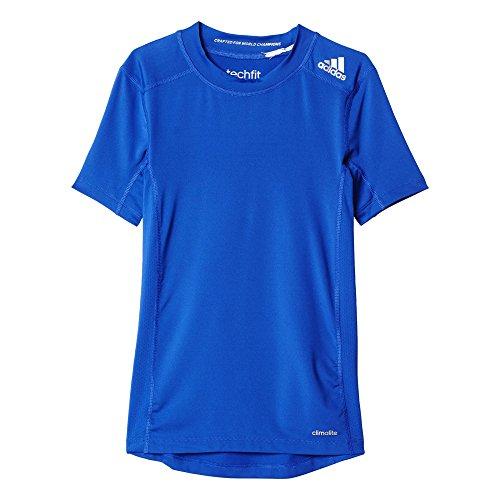 adidas Jungen T-Shirt Techfit Base, Boblue, 152