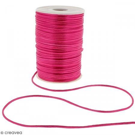 Cordino raso 2mm-al metro (su misura) rosa fucsia