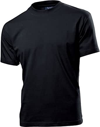 HANES SLIM FIT FITTED T SHIRT - 11 COLOURS S-XXL X-Large Black