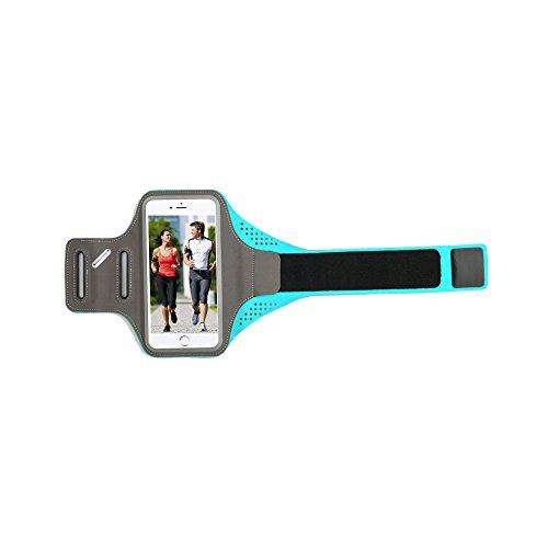 Tritina Sport Armband + tovagliolo di raffreddamento per iPhone 6 / 6S Compatibile per 4,7 inch smartphone con sistema operativo cintura esterna di caso di sport --- blu - Red Jogger