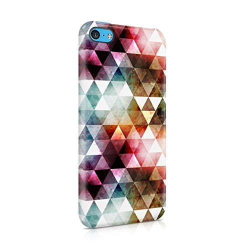 Triangles Mosaic Boho Galaxy Colorful Pattern Apple iPhone 5C Snap-On Hard Plastic Protective Shell Case Cover