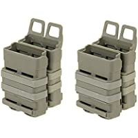 Airsoft VIERERPACK - FastMag 5.56 - M4 - Magazintasche, Molle, Foliage Oliv, Four Pack Mag Pouch