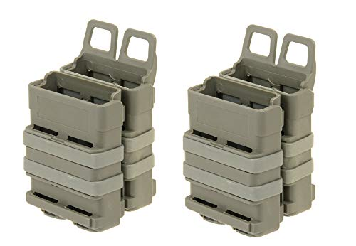 Airsoft VIERERPACK - FastMag 5.56 - M4 - Magazintasche, Molle, Foliage Oliv, Four Pack Mag Pouch -