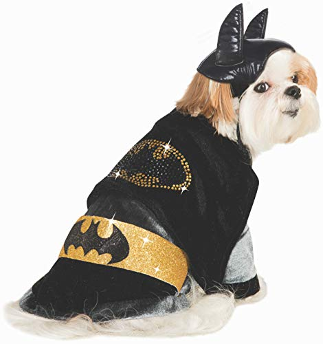 Rubies Costume DC Heroes and Villains Collection Haustierkostüm, kuscheliger Batman, M, schwarz (Rubies Batman Kostüm Hunde)