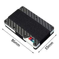 ljym88 Card Case Simple Pocket Purse Credit Holder Carbon Fiber Wallet Bank Men RFID ocking Organizer Business Thin Durable Package