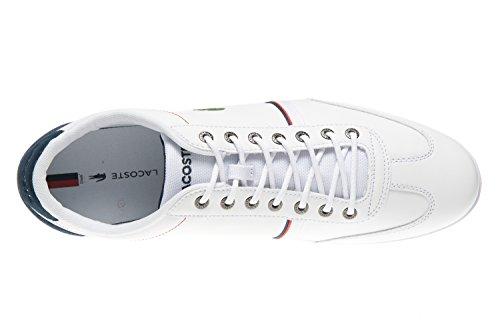 Sneaker 1 118 Herren Weiß Lacoste Misano Sport Cam xwIYBcqtd