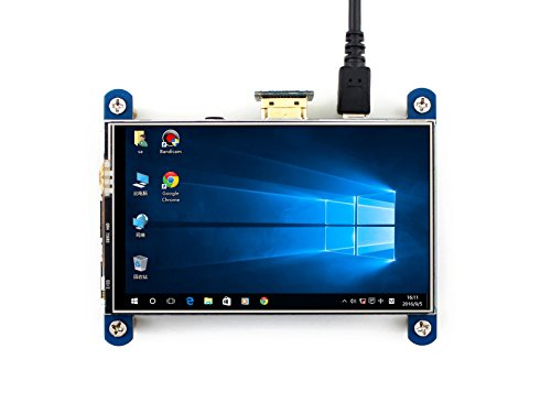 Waveshare 4inch HDMI LCD Resistive Touch Screen 800x480 High Resolution HDMI Interface IPS Screen Designed for Raspberry Pi 3B/3B+/2B/B +/B 4in Lcd