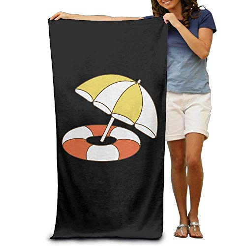 NUOKC Picknickdecke,Stranddecke Strandtuch,Circle and Umbrella Printting Beach Bath Towel Extra Large Microfiber Towel for Swim Beach Chair Cover 31.5
