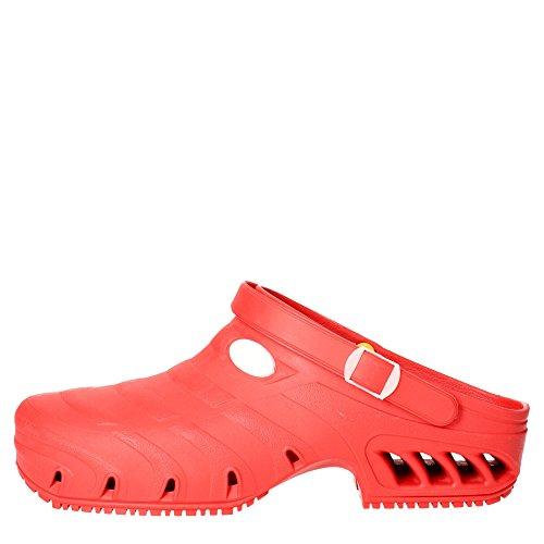 Sanagens 7700 008 Mules Femme Rouge