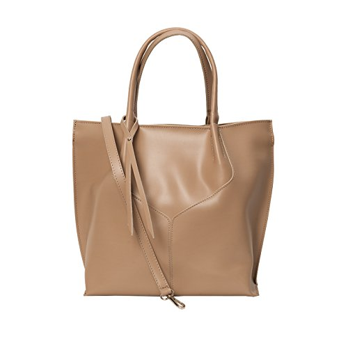 Shopper , Borse Tote , Sacchetto( 33/ 34/ 11 cm )Pelle Mod. 2049 by fashion-formel Taupe